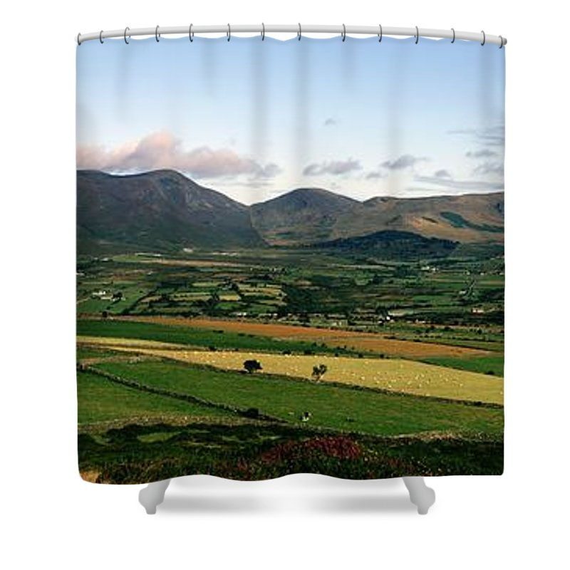 Color Image Shower Curtain featuring the photograph Mourne Mountains, Co. Down, Ireland by The Irish Image Collection