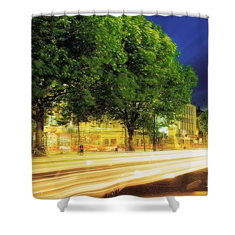 Building Shower Curtain featuring the photograph Oconnell Street, Dublin, Ireland by The Irish Image Collection