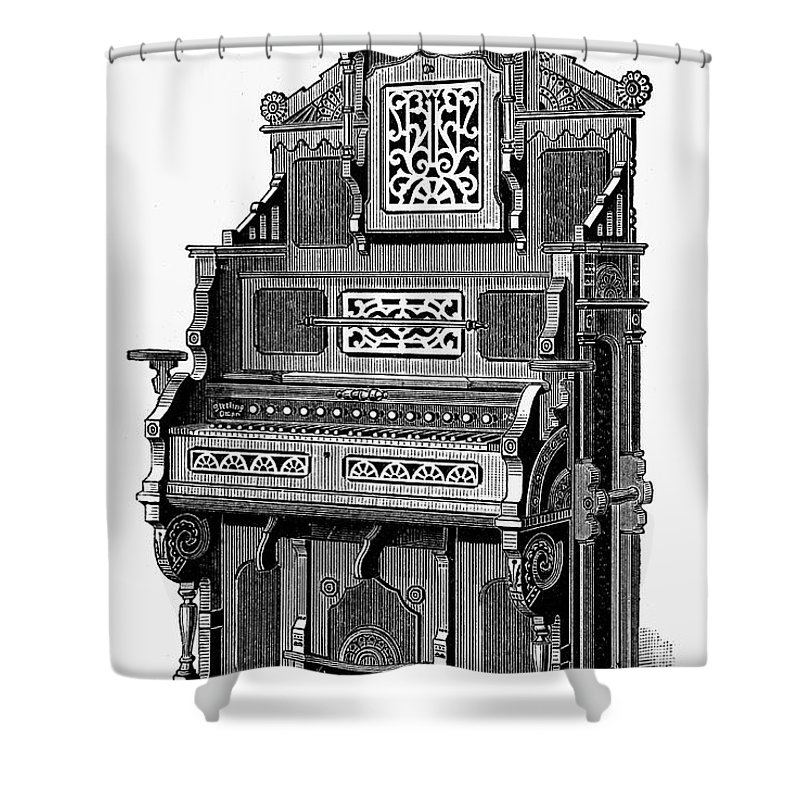 19th Century Shower Curtain featuring the photograph Organ, 19th Century by Granger