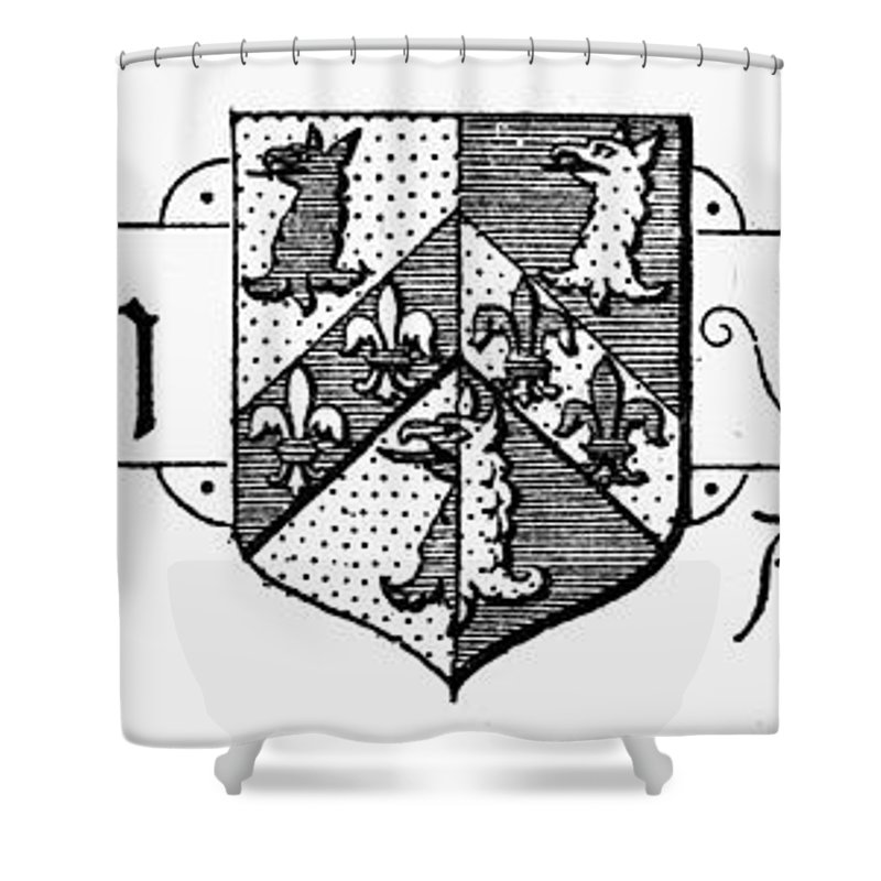 Coat Of Arms Shower Curtain featuring the photograph Oxford: Coat Of Arms by Granger