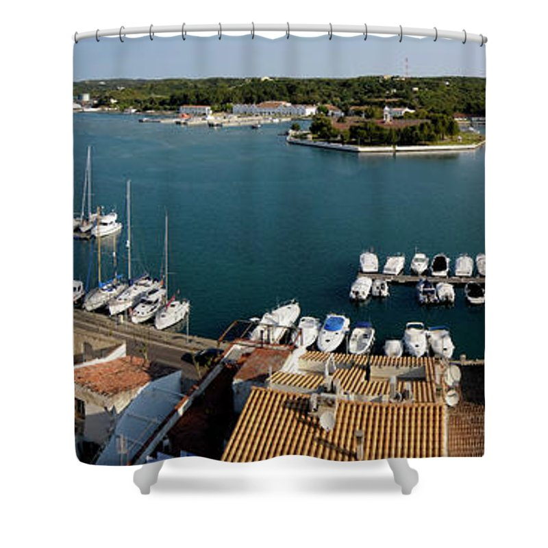 Mao Shower Curtain featuring the photograph Panoramic Town 1 by Pedro Cardona Llambias