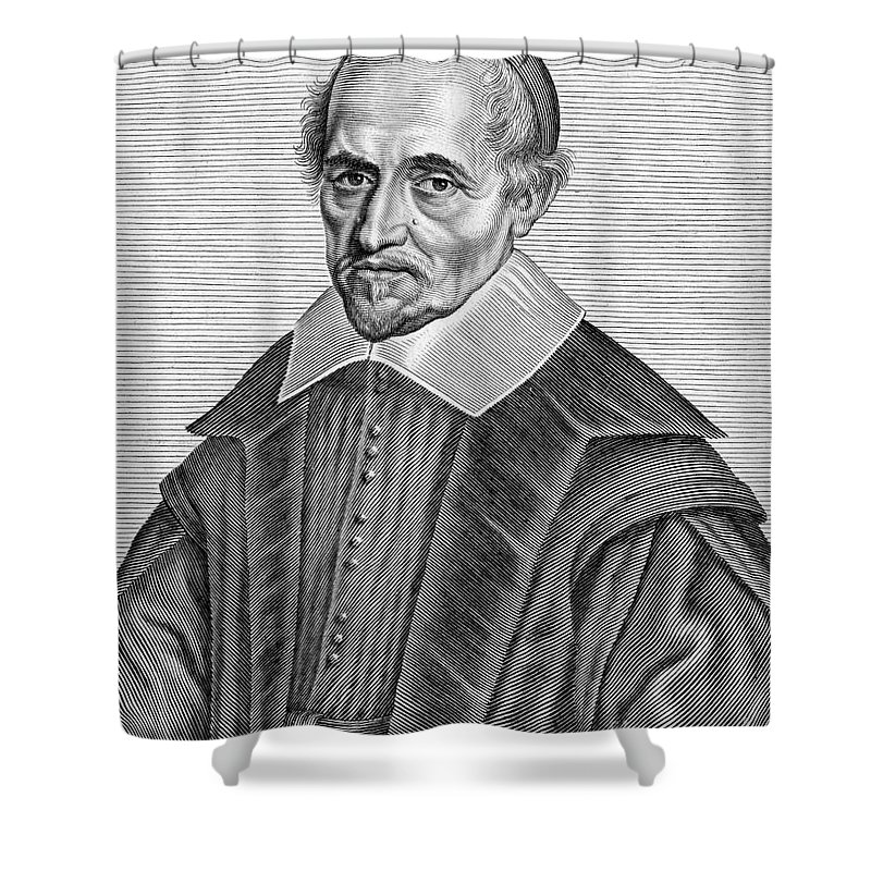 Art Shower Curtain featuring the photograph Pierre Gassendi, French Polymath by Science Source