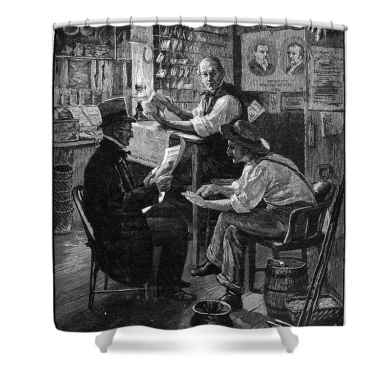 1884 Shower Curtain featuring the photograph Presidential Campaign, 1884 by Granger