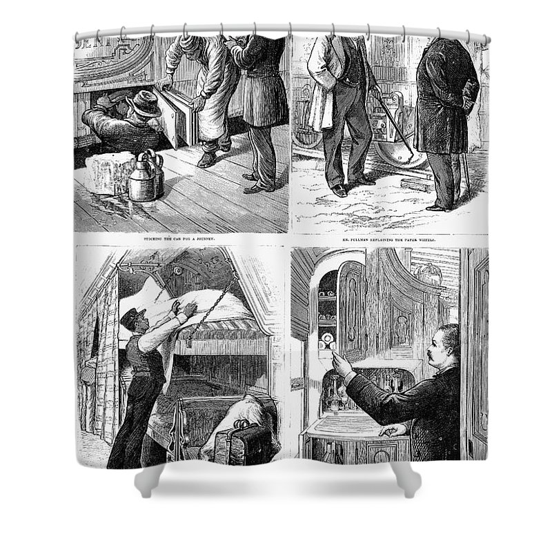 1877 Shower Curtain featuring the photograph Pullman Car, 1877 by Granger