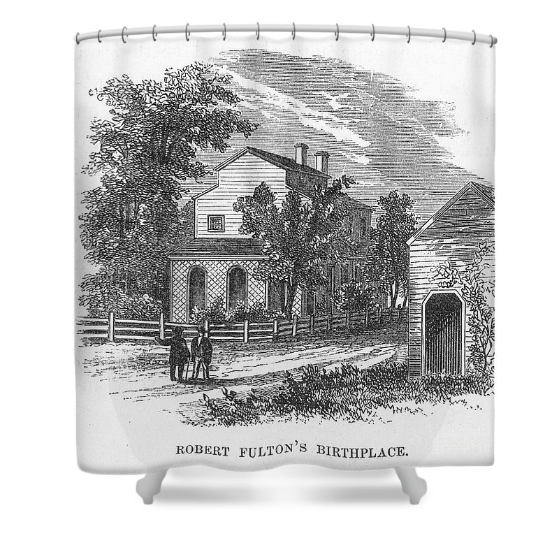18th Century Shower Curtain featuring the photograph Robert Fulton (1765-1815) by Granger
