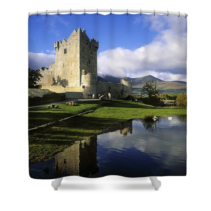 Architecture Shower Curtain featuring the photograph Ross Castle, Killarney, Co Kerry by The Irish Image Collection