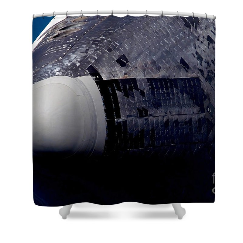 Close-up Shower Curtain featuring the photograph Space Shuttle Endeavour by Stocktrek Images