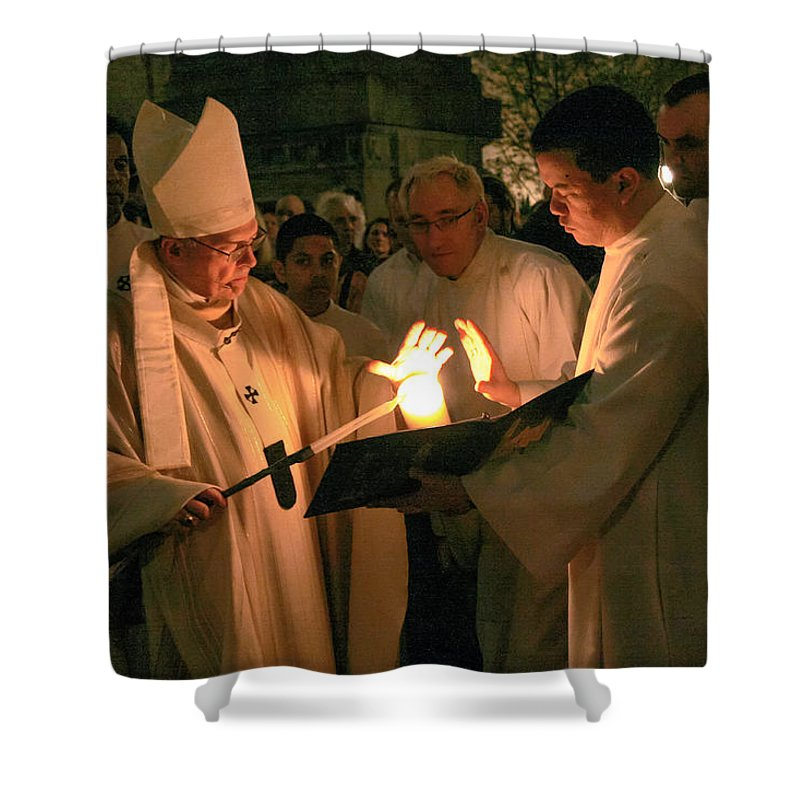St. James Cathedral Shower Curtain featuring the photograph St. James Cathedral by Mike Penney