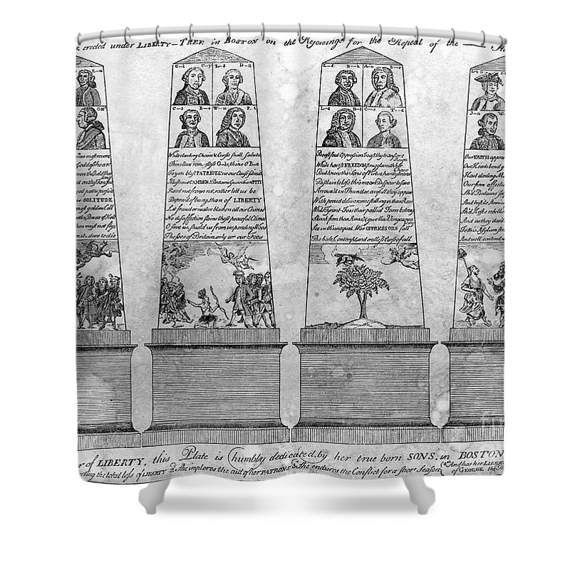 1766 Shower Curtain featuring the photograph Stamp Act Repeal, 1766 by Granger