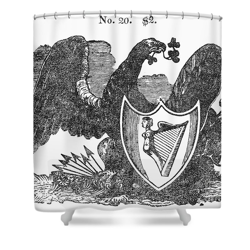 1825 Shower Curtain featuring the photograph Symbols: Eagle by Granger
