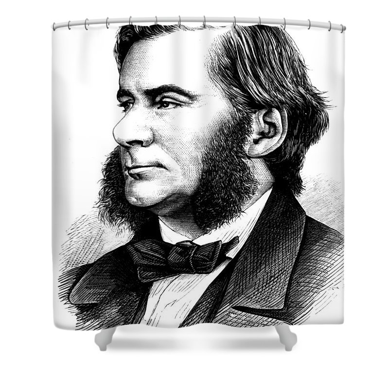 Science Shower Curtain featuring the photograph Thomas Huxley, English Biologist by Science Source