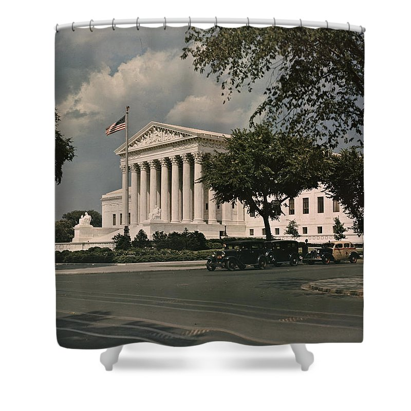 supreme Court Shower Curtain featuring the photograph Untitled by Charles Martin