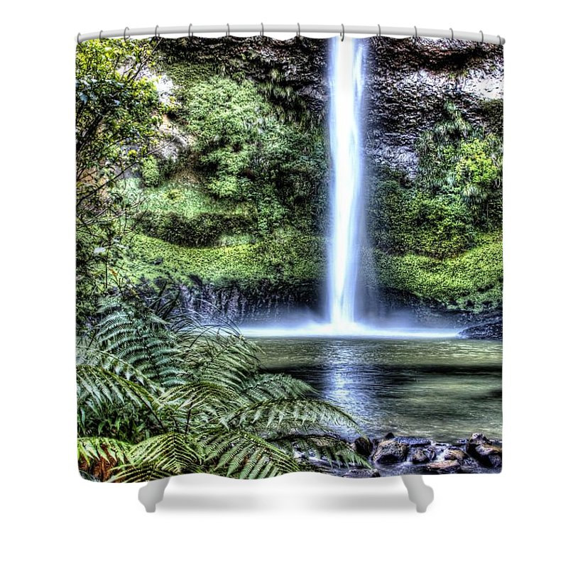 Cascade Shower Curtain featuring the photograph Waterfall by Les Cunliffe