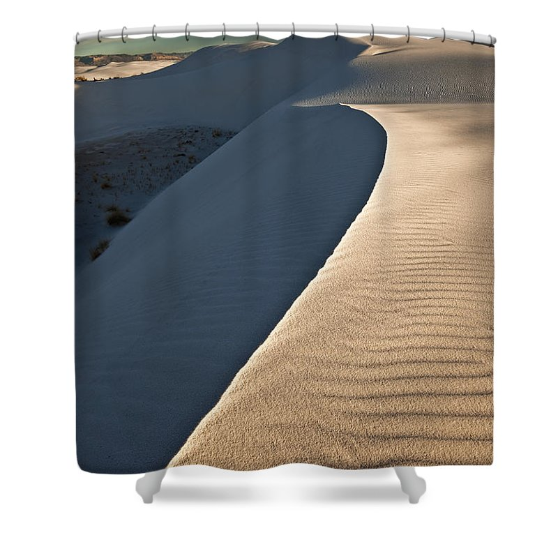 Light Shower Curtain featuring the photograph White Sands National Monument, New by Robert Postma