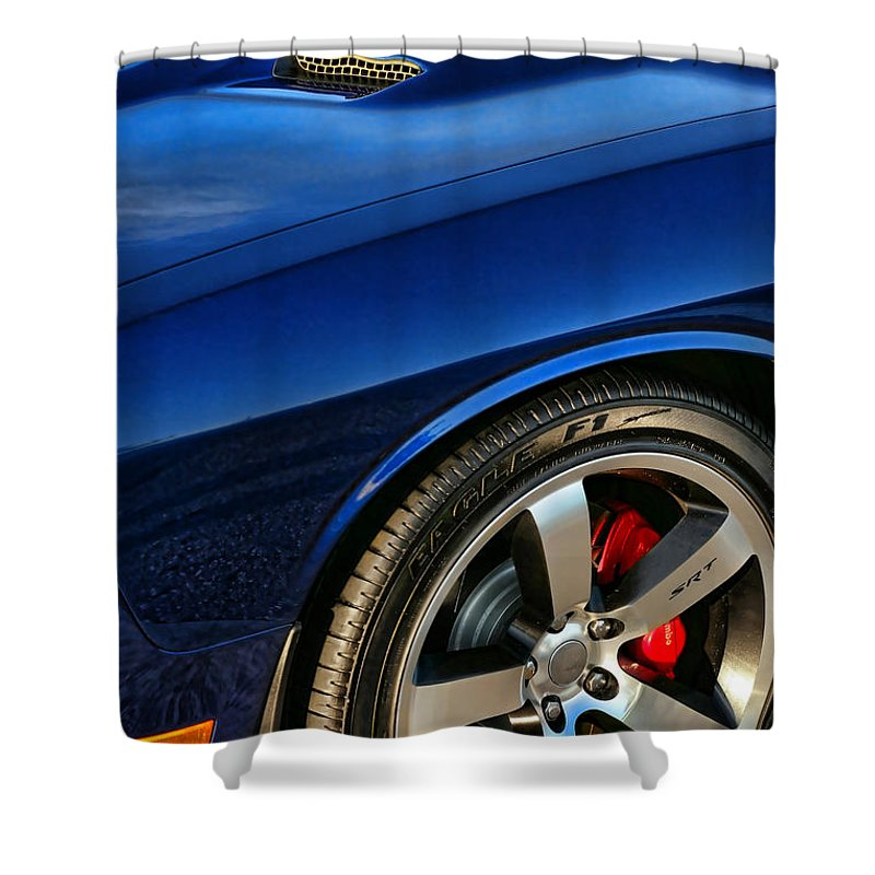 2011 Shower Curtain featuring the photograph 2011 Dodge Challenger 392 Hemi Srt8 by Gordon Dean II