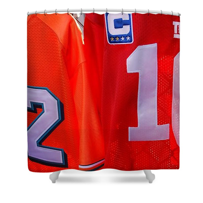 New York Giants Shower Curtain featuring the photograph 22 10 by Rob Hans