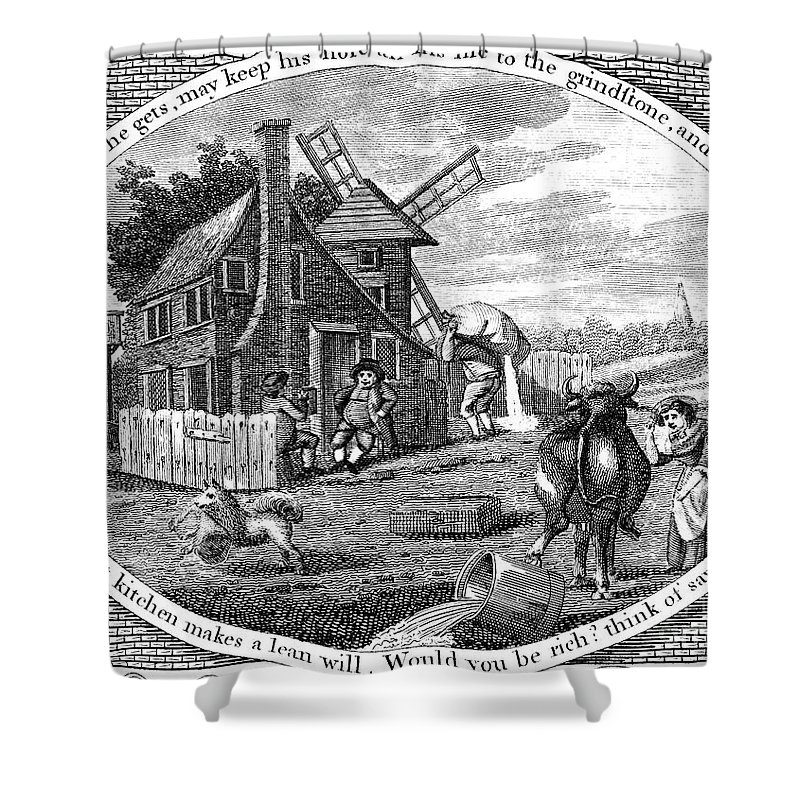 1795 Shower Curtain featuring the photograph Poor Richard Illustrated by Granger