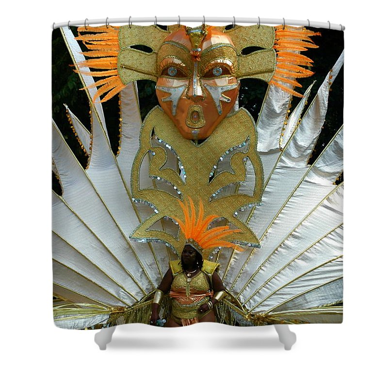 Shower Curtain featuring the photograph West Indian Day Parade Brooklyn Ny by Mark Gilman