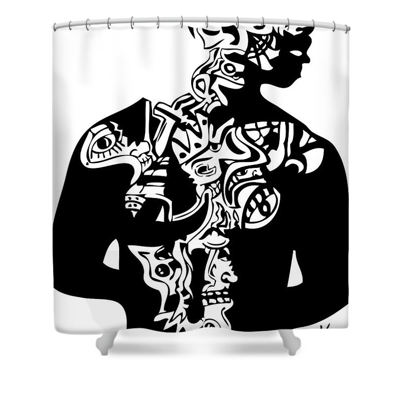 2pac Shower Curtain Featuring The Digital Art First By Kamoni Khem