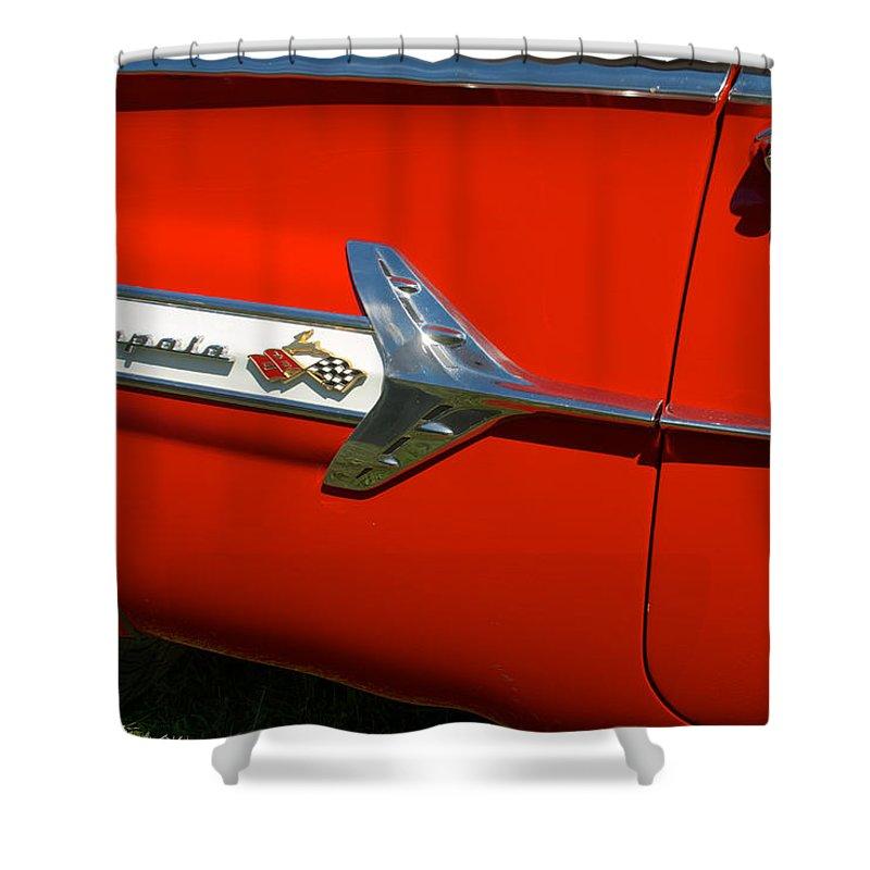 1960 Chevy Impala Convertable Shower Curtain featuring the photograph 1960 Chevy Impala Convertable by Mark Dodd