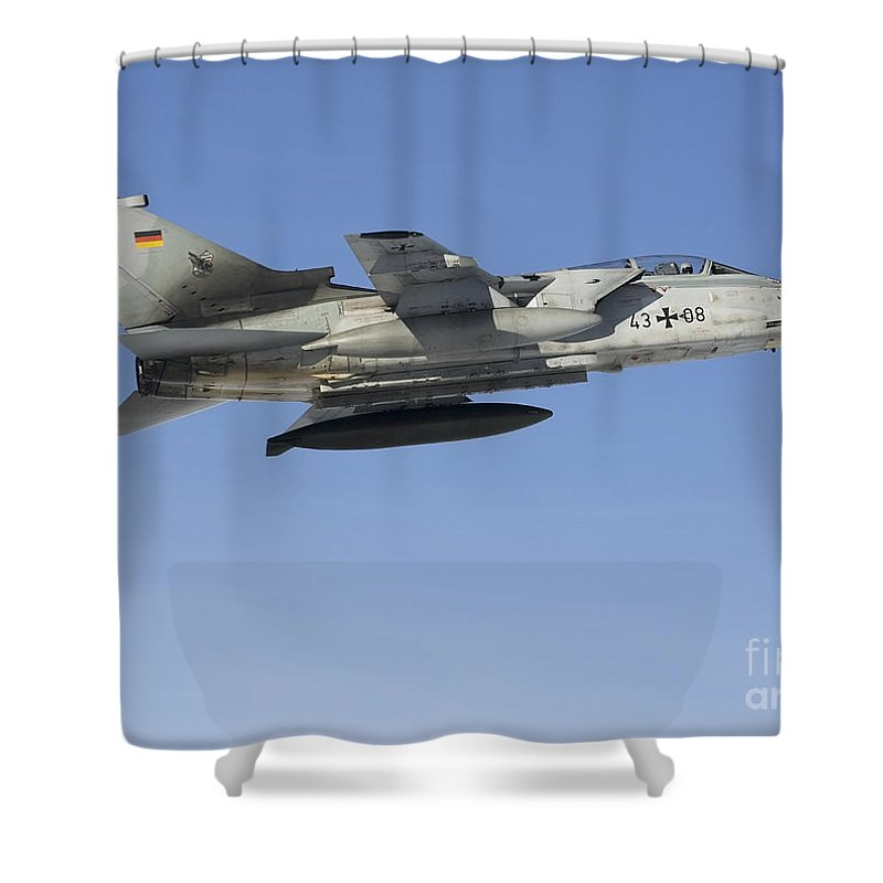 Germany Shower Curtain featuring the photograph A Luftwaffe Tornado Ids Over Northern by Gert Kromhout