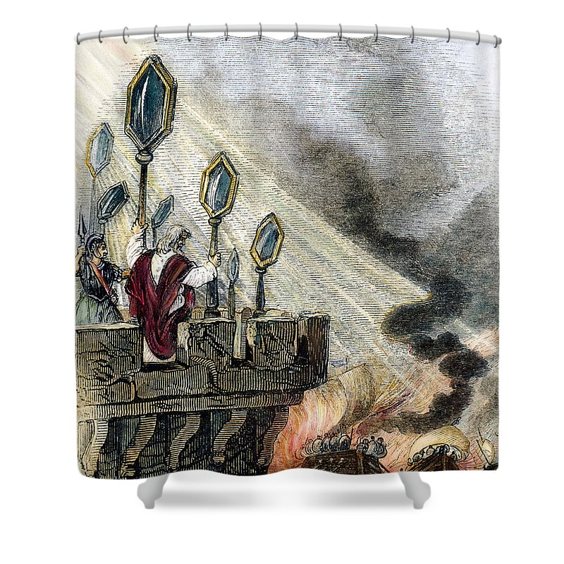 3rd Century B.c Shower Curtain featuring the photograph Archimedes (287?-212 B.c.) by Granger