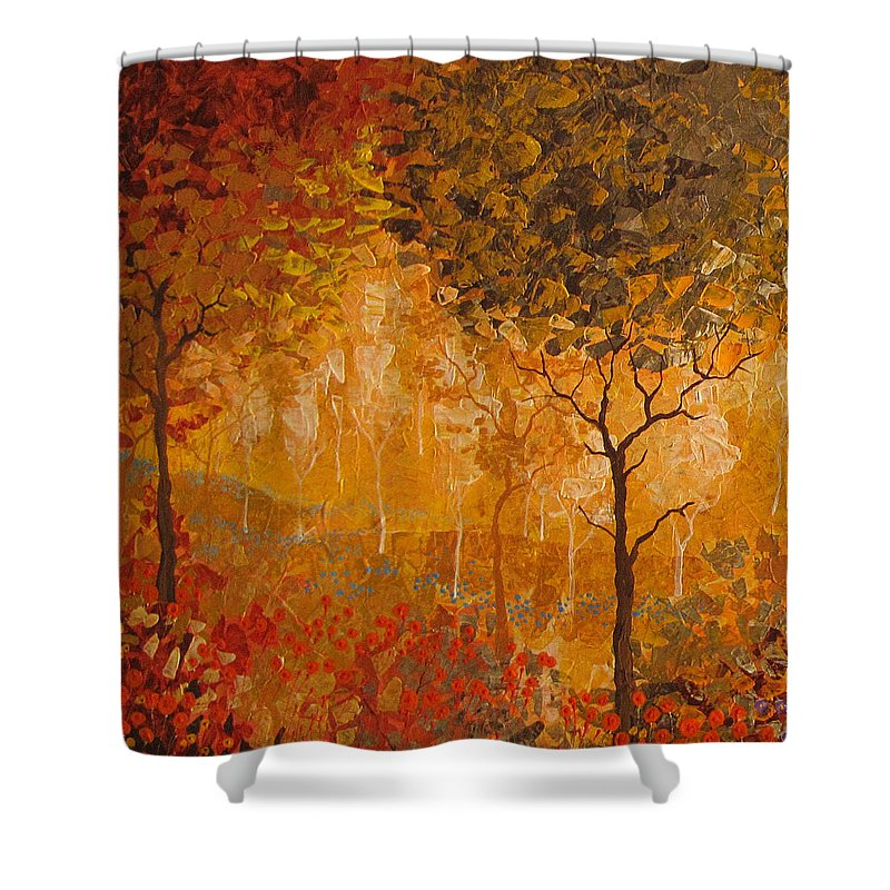 Shower Curtain featuring the painting Autumn by Stefan Georgiev