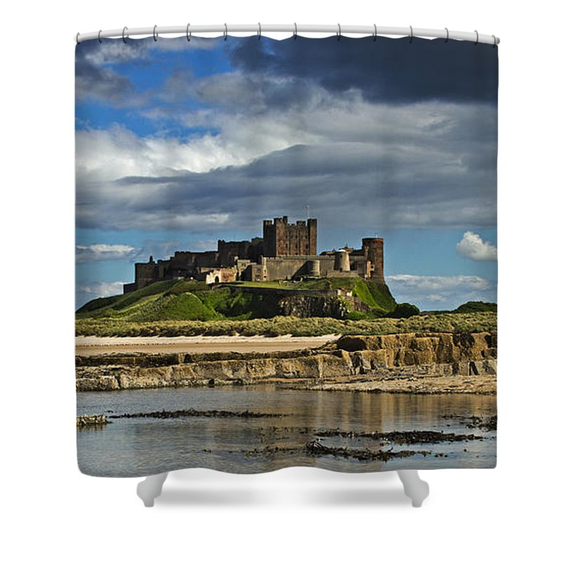 Bamburgh Shower Curtain featuring the photograph Bamburgh Castle by David Pringle