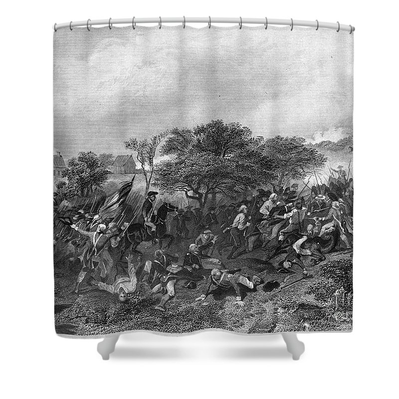 1778 Shower Curtain featuring the photograph Battle Of Monmouth, 1778 by Granger