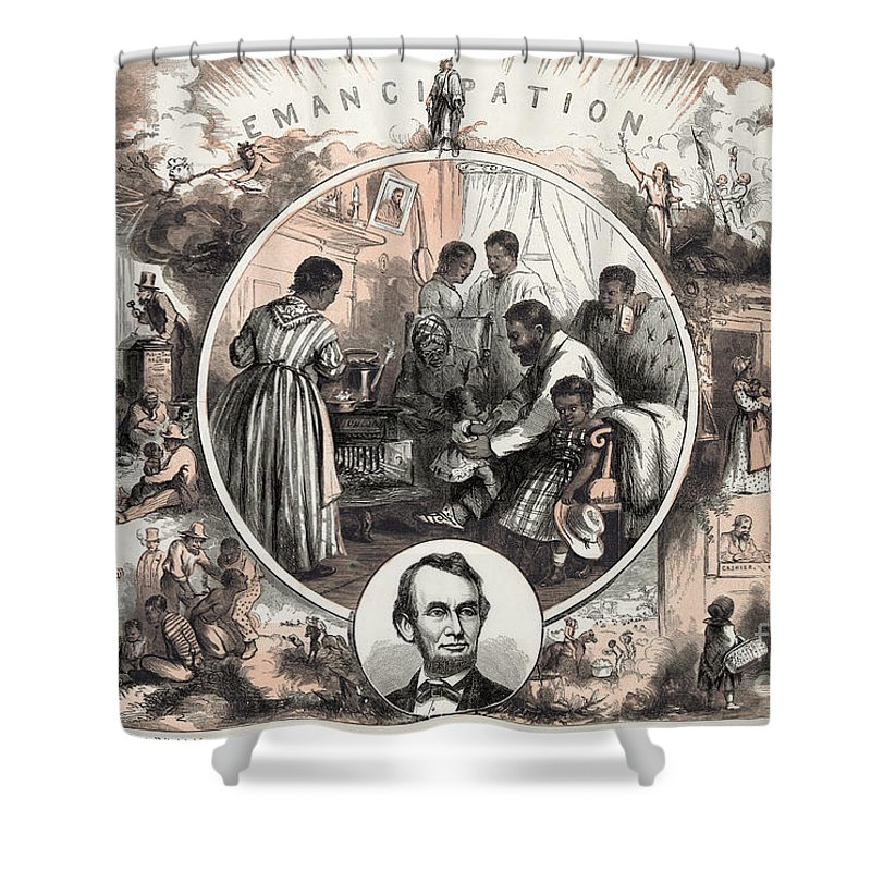1863 Shower Curtain featuring the photograph Emancipation Proclamation by Granger