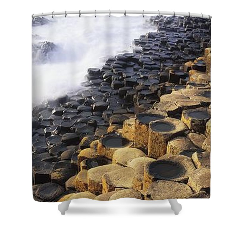 Co Antrim Shower Curtain featuring the photograph Giants Causeway, Co Antrim, Ireland by The Irish Image Collection