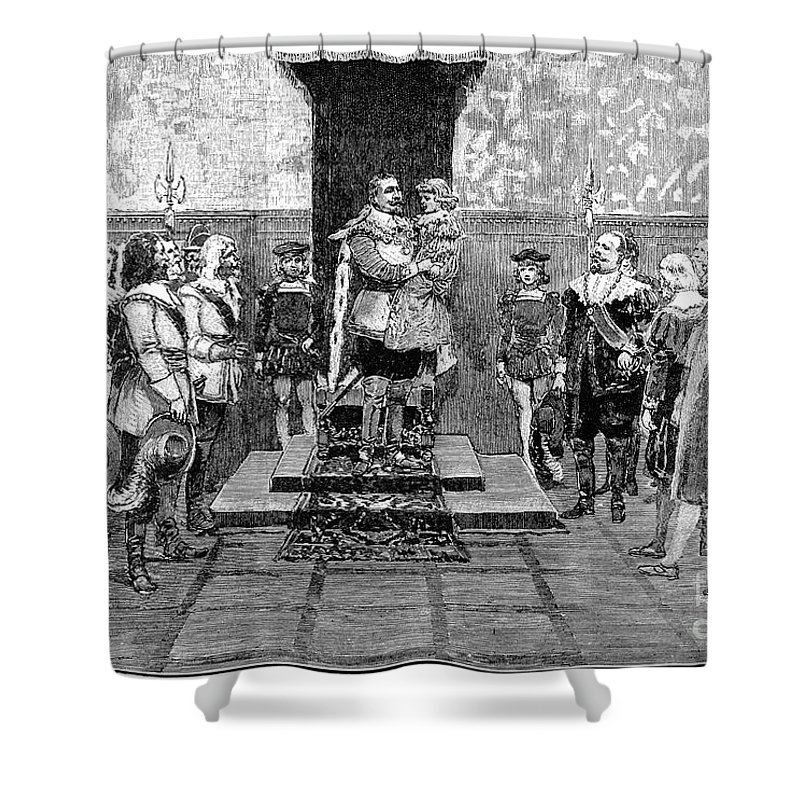 1632 Shower Curtain featuring the photograph Gustavus II (1594-1632) by Granger