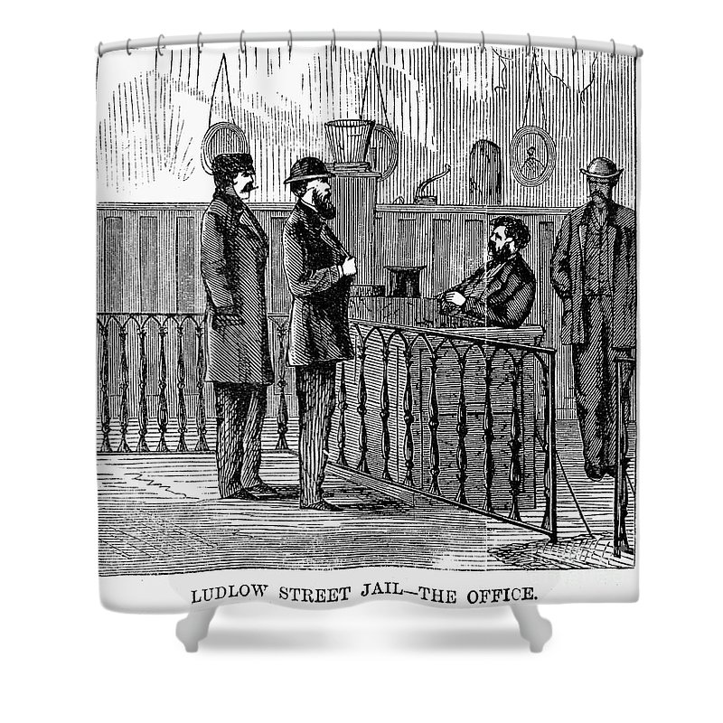 1868 Shower Curtain featuring the photograph Ludlow Street Jail, 1868 by Granger