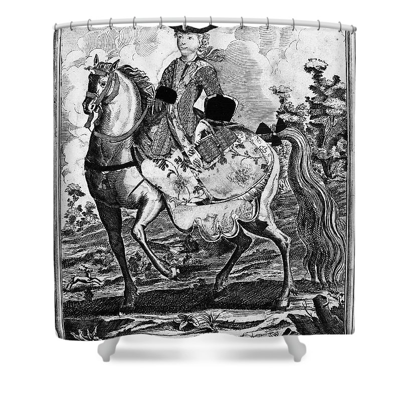 18th Century Shower Curtain featuring the photograph Marquise De Pompadour by Granger