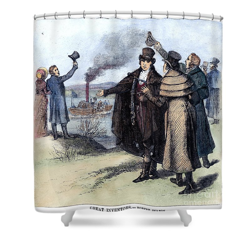 1807 Shower Curtain featuring the photograph Robert Fulton (1765-1815) by Granger