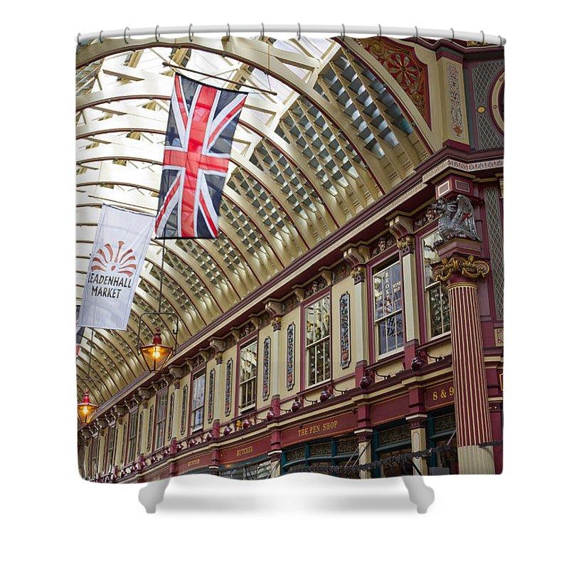 Leadenhall Market Shower Curtain featuring the photograph Leadenhall Market London by David Pyatt