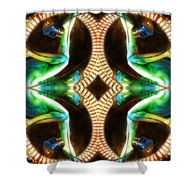Man Shower Curtain featuring the painting Untitled by Adam Vance