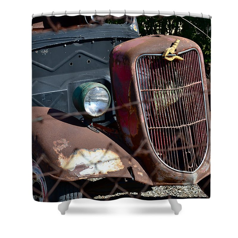 1936 Ford Shower Curtain featuring the photograph '36 Ford II by Bill Owen