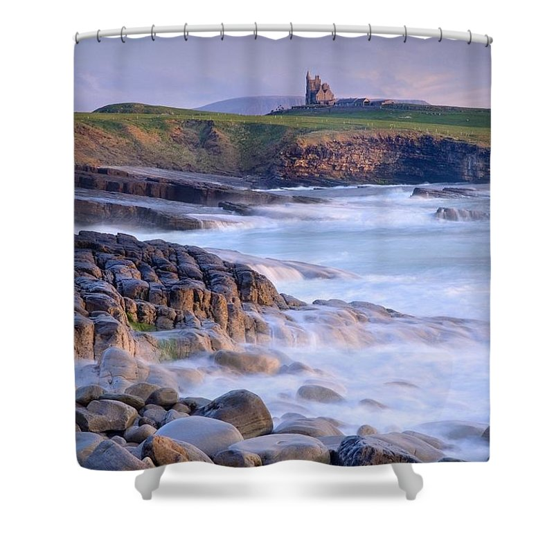 Day Shower Curtain featuring the photograph Classiebawn Castle, Mullaghmore, Co by Gareth McCormack