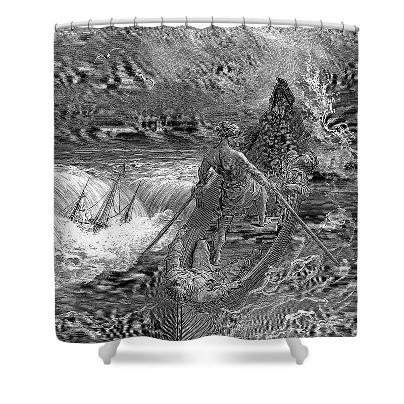 19th Century Shower Curtain featuring the photograph Coleridge: Ancient Mariner by Granger