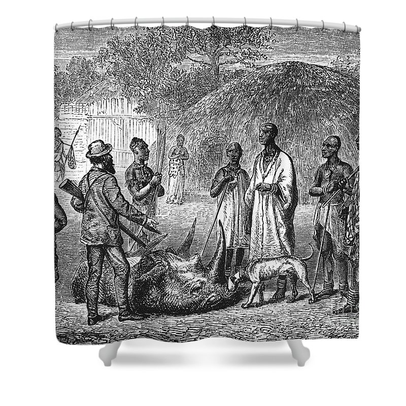 1861 Shower Curtain featuring the photograph John H. Speke (1827-1864) by Granger