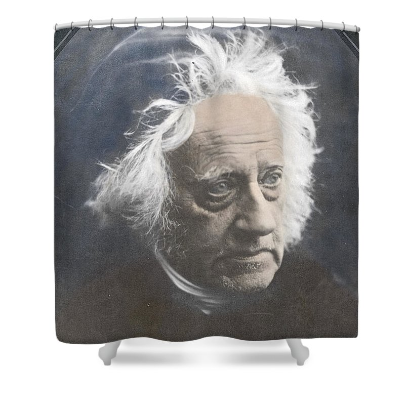 Science Shower Curtain featuring the photograph John Herschel, English Polymath by Science Source