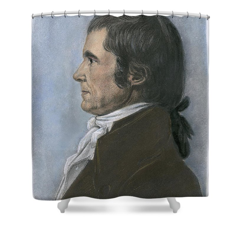 1808 Shower Curtain featuring the photograph John Marshall (1755-1835) by Granger