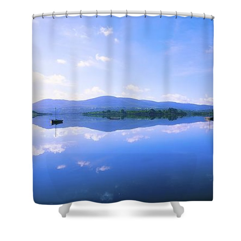 Boat Shower Curtain featuring the photograph Kenmare Bay, Dunkerron Islands, Co by The Irish Image Collection