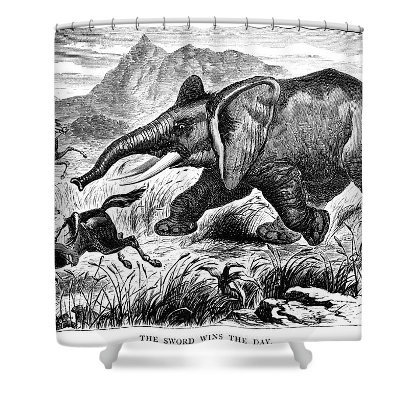 1868 Shower Curtain featuring the photograph Samuel White Baker by Granger