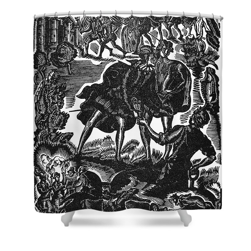 Drama Shower Curtain featuring the photograph Shakespeare: Hamlet by Granger