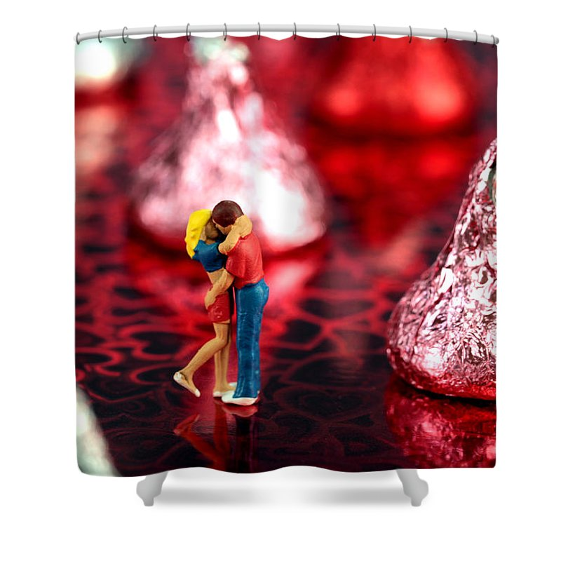 Lover Shower Curtain featuring the photograph The Lovers In Valentine's Day by Paul Ge