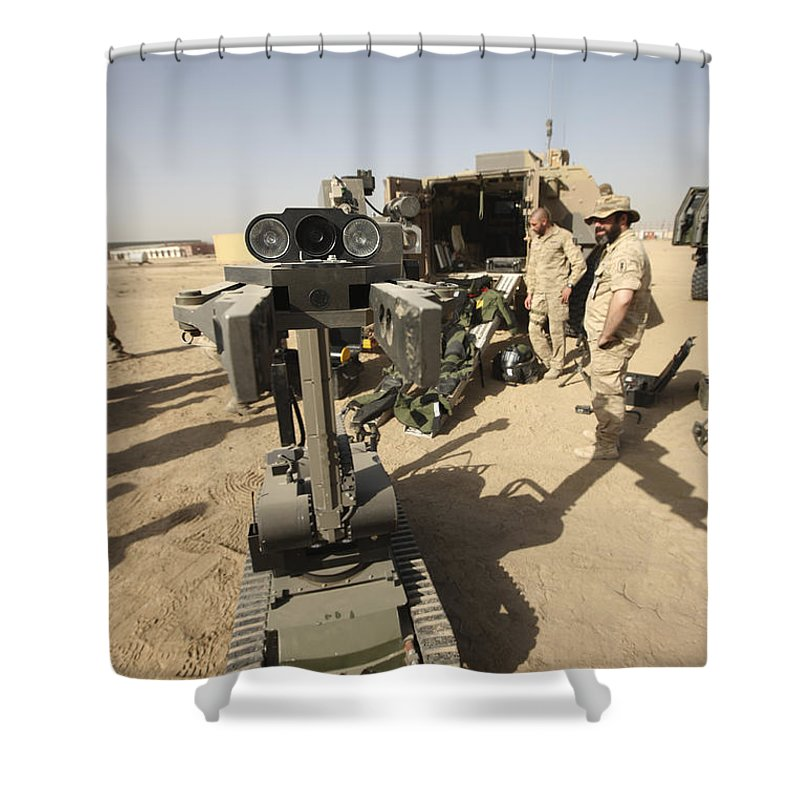 German Army Shower Curtain featuring the photograph The Teodor Heavy-duty Bomb Disposal by Terry Moore