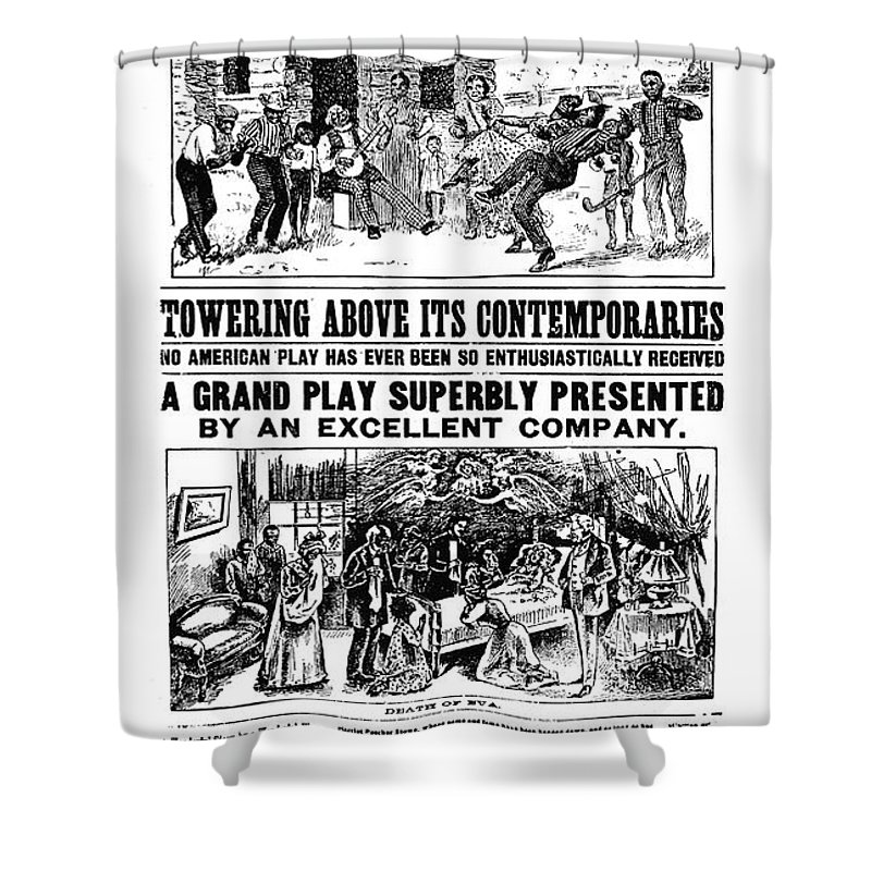 19th Century Shower Curtain featuring the photograph Uncle Toms Cabin by Granger