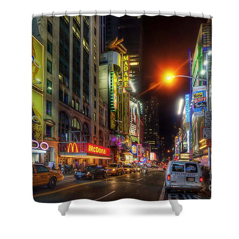 Yhun Suarez Shower Curtain featuring the photograph 42nd Street Nyc 3.0 by Yhun Suarez